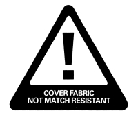 Cover fabric not match resistant label